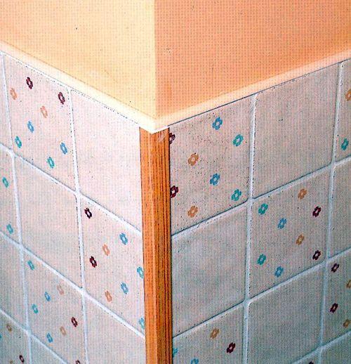 Как сделать наружный угол для плитки 211